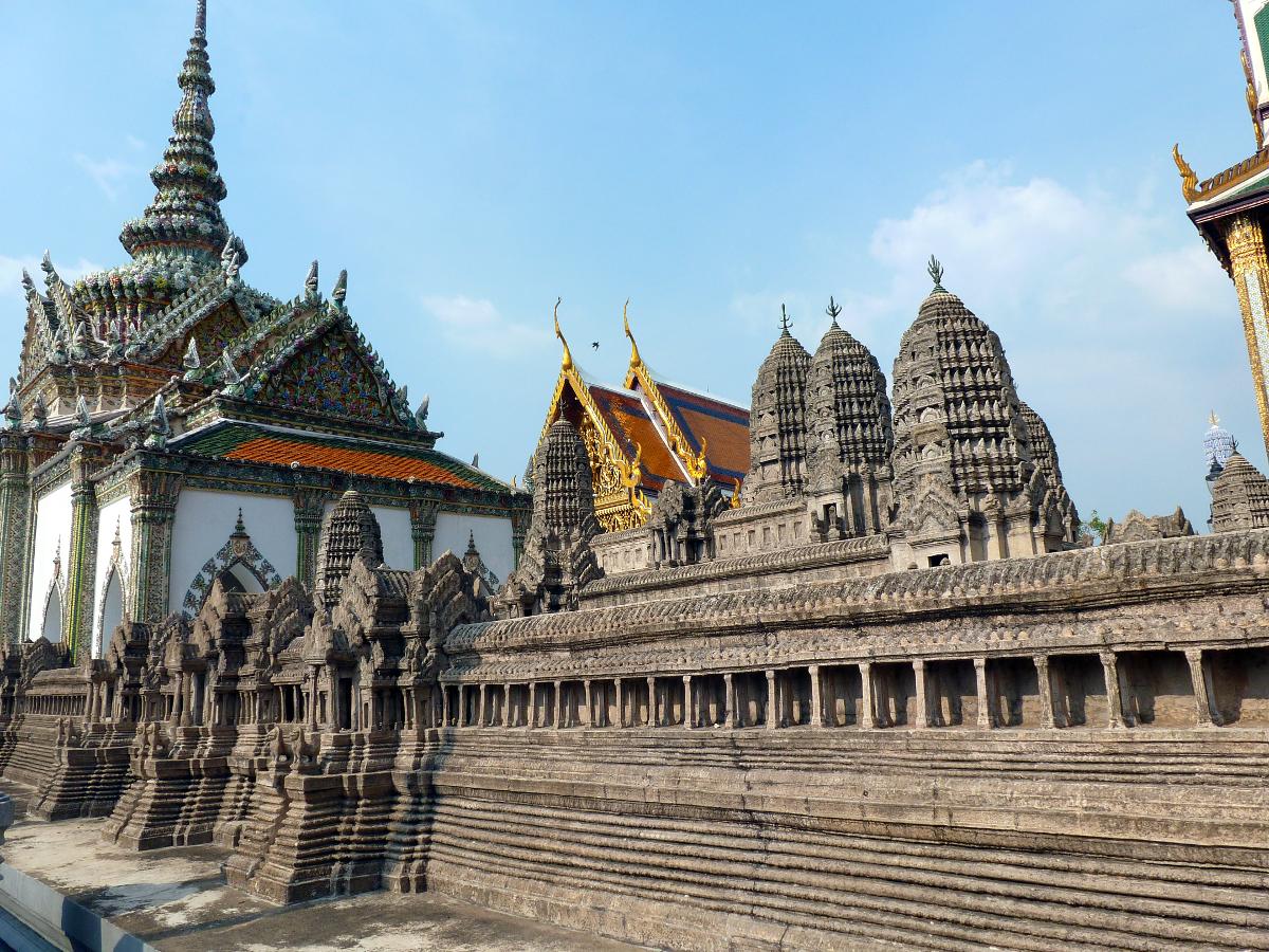 Inside Bangkok's palace.