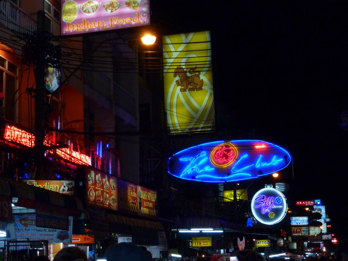 Silom Road at night.