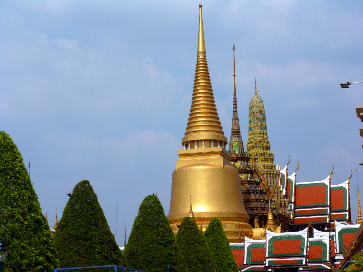 The Temple of the Emerald Buddha during the day.