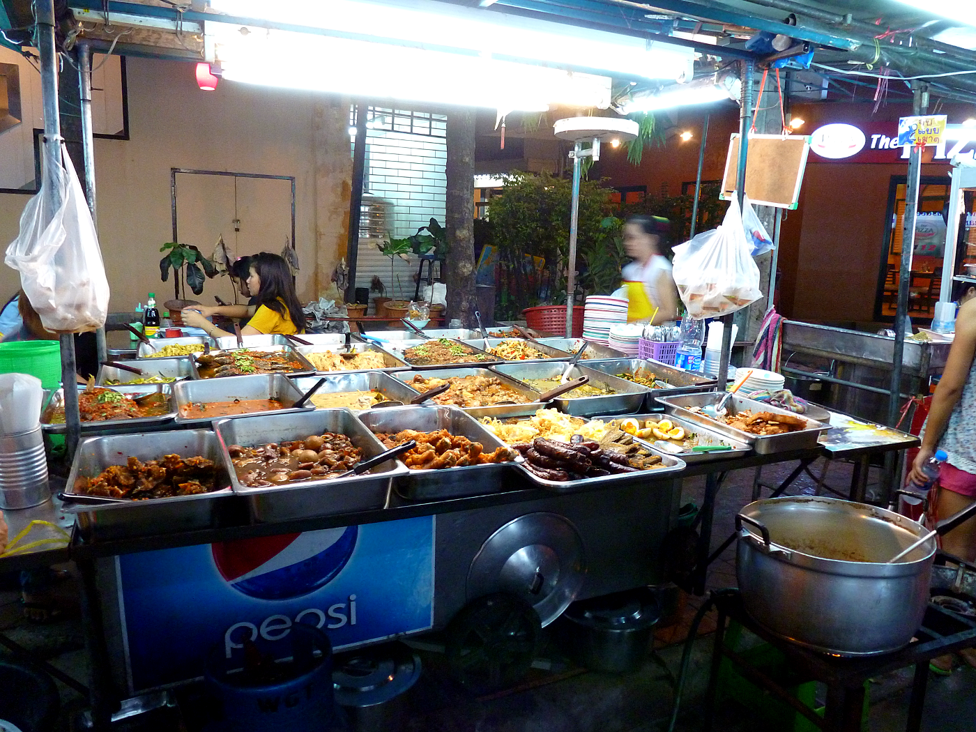 Bangkok, Thailand steam table market.