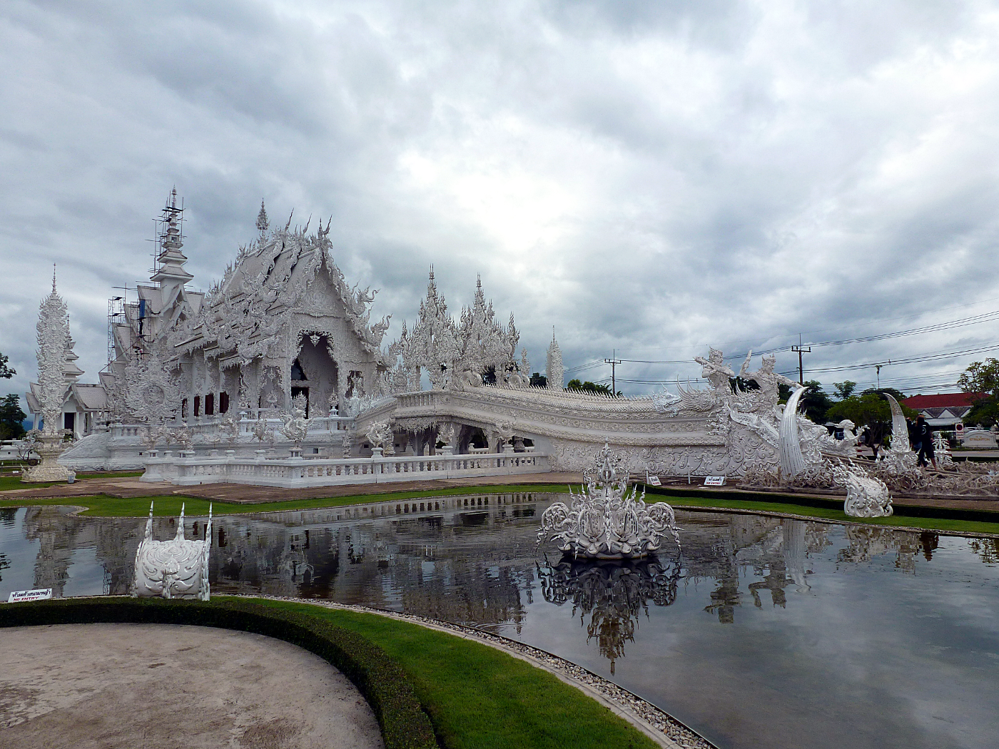 White temple moat